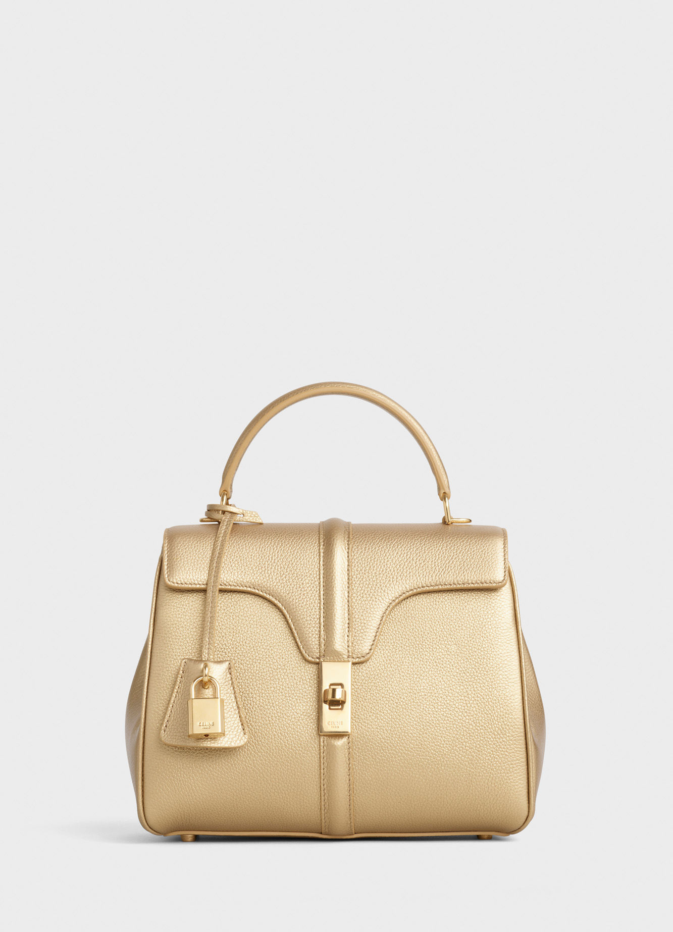 CELINE SMALL 16 BAG IN LAMINATED GRAINED CALFSKIN