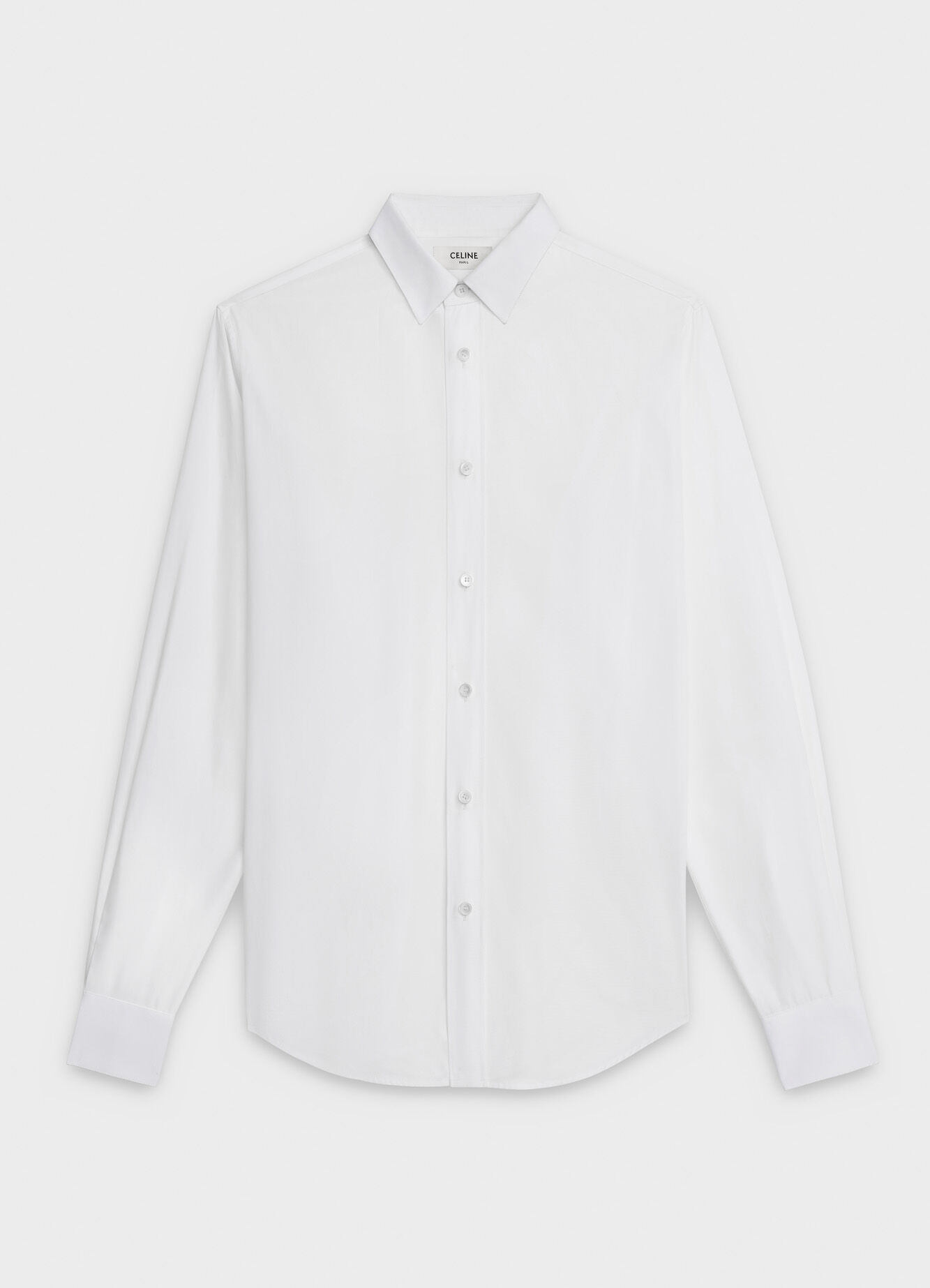 CELINE CLASSIC SHIRT IN COTTON POPLIN WITH MODERN COLLAR
