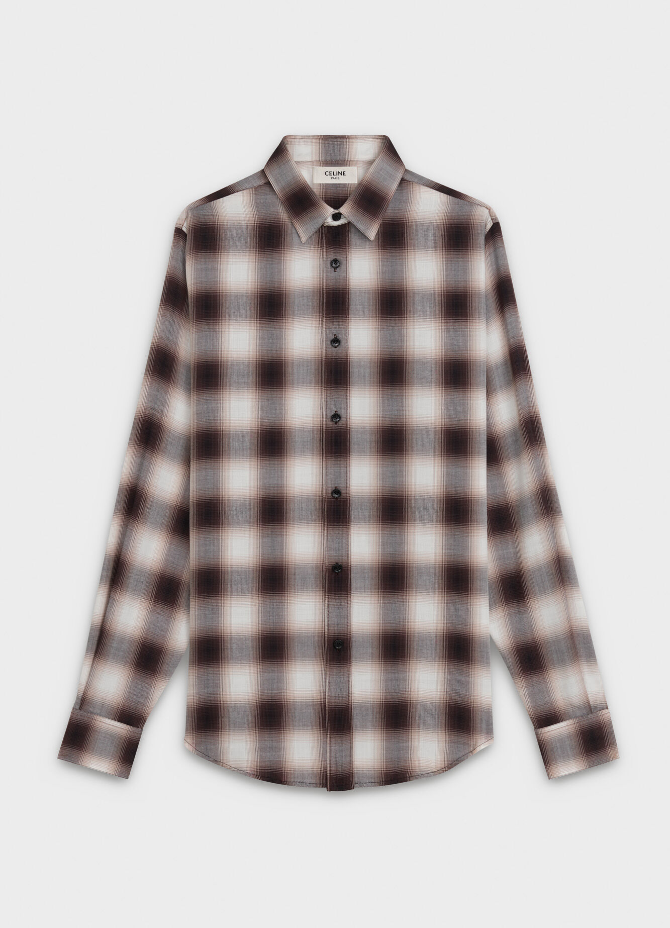 CLASSIC SHIRT IN CHECKERED VISCOSE WITH MODERN COLLAR
