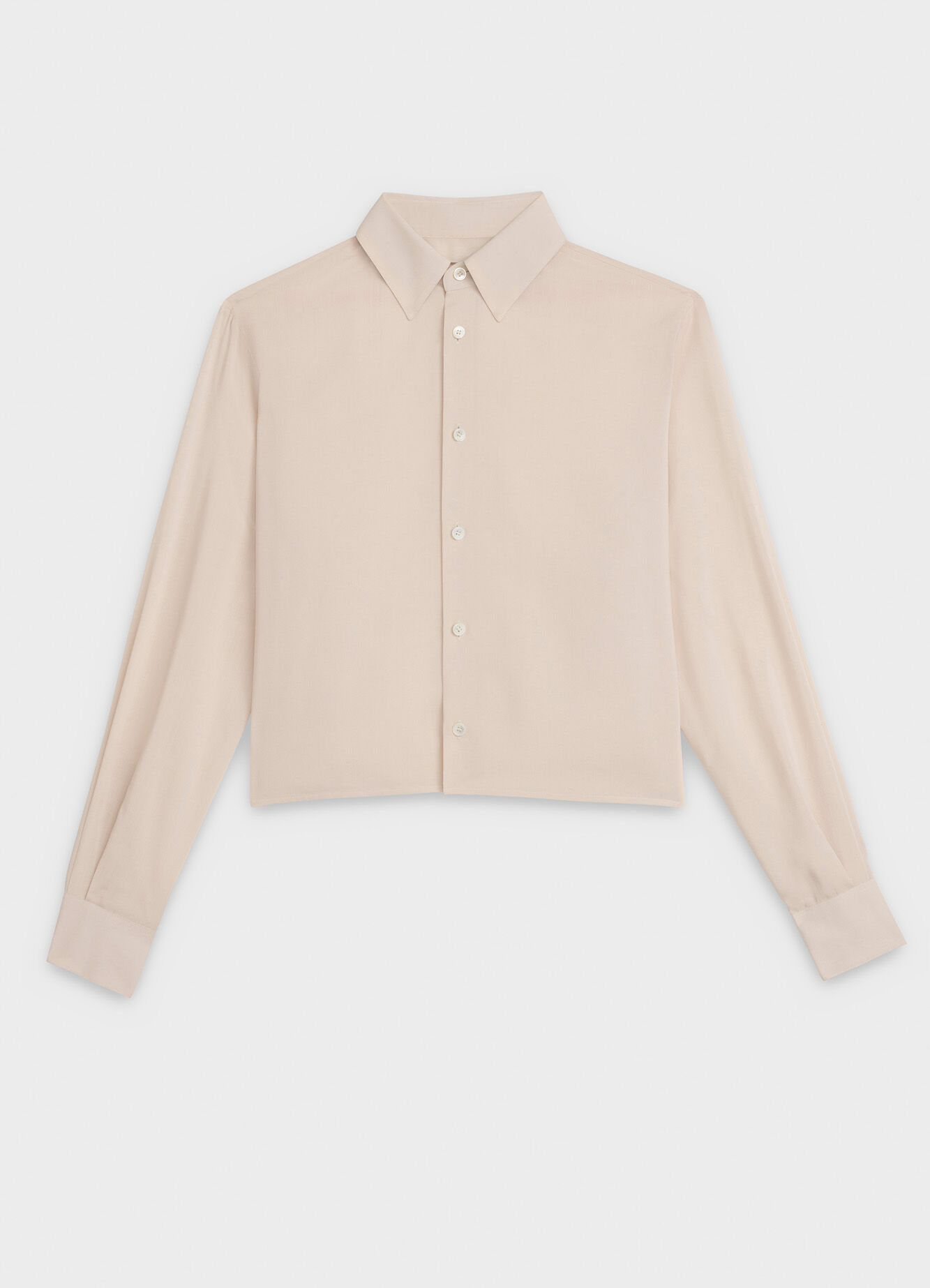 CELINE CROPPED SHIRT WITH DRUGSTORE COLLAR IN TOILE VISCOSE