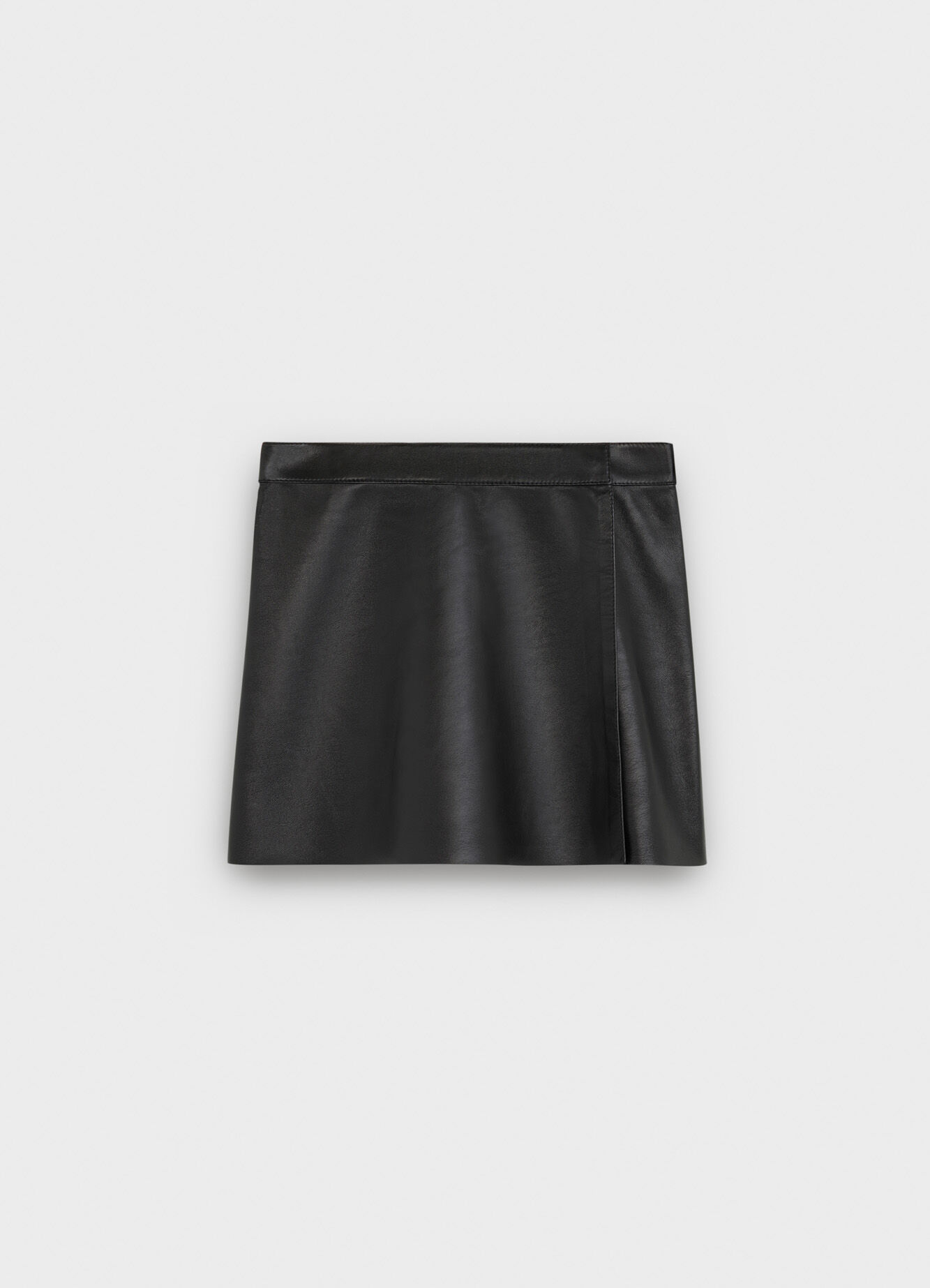 CELINE SHORT KILT SKIRT IN TUMBLED LAMBSKIN