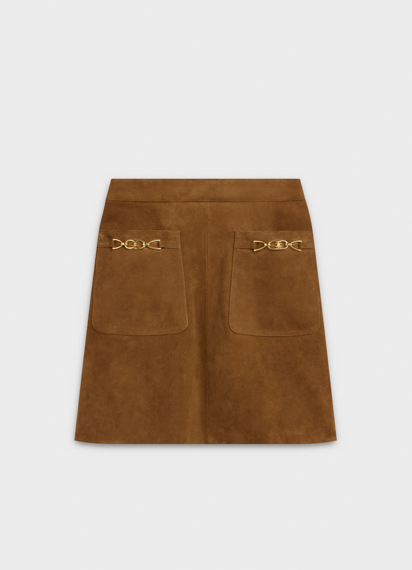 CELINE SHORT SKIRT IN SUEDE
