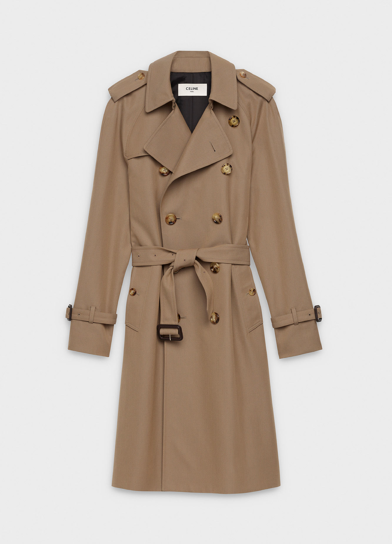 CLASSIC TRENCH COAT IN WOOL AND COTTON