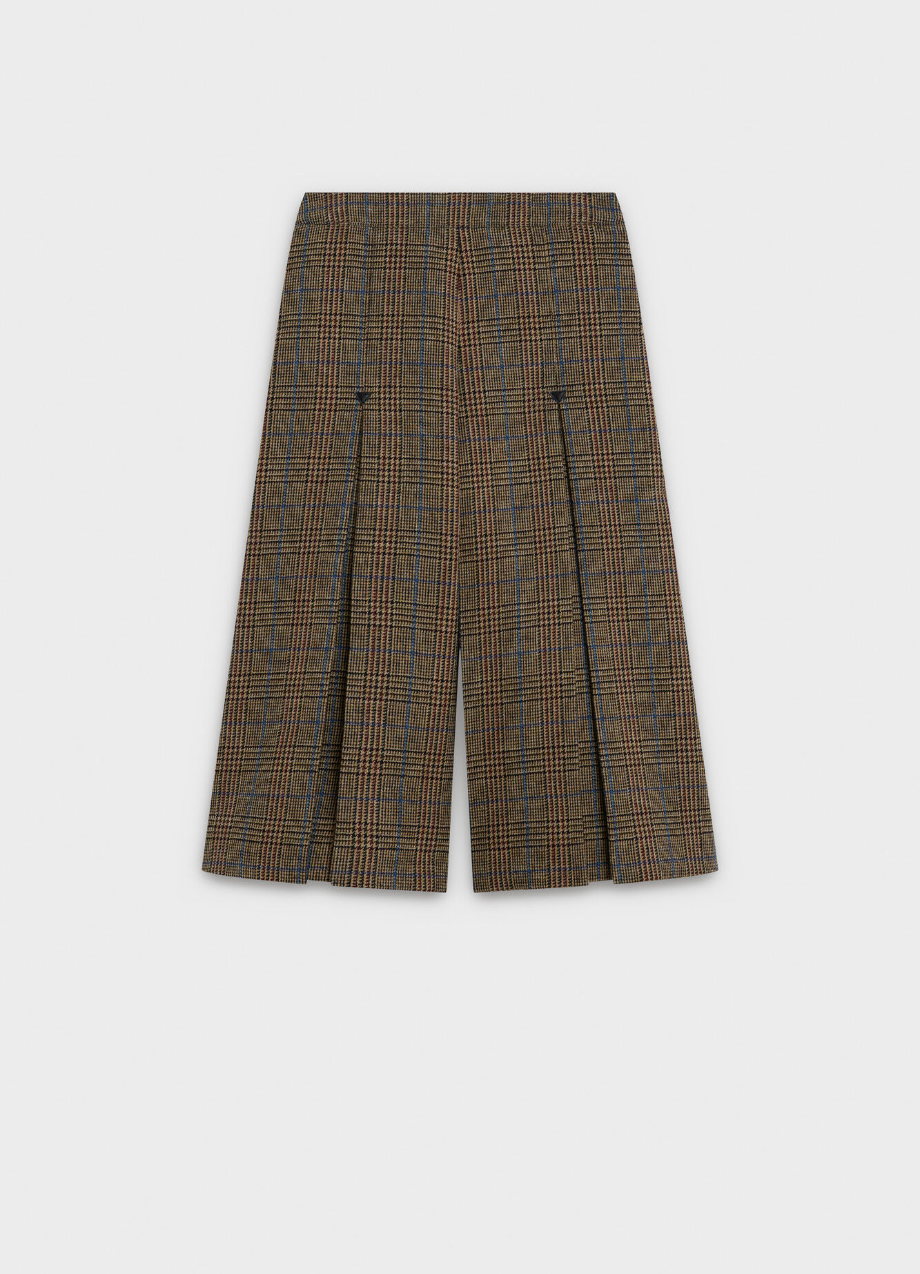 celine BOX PLEAT CULOTTE IN WOOL TWEED