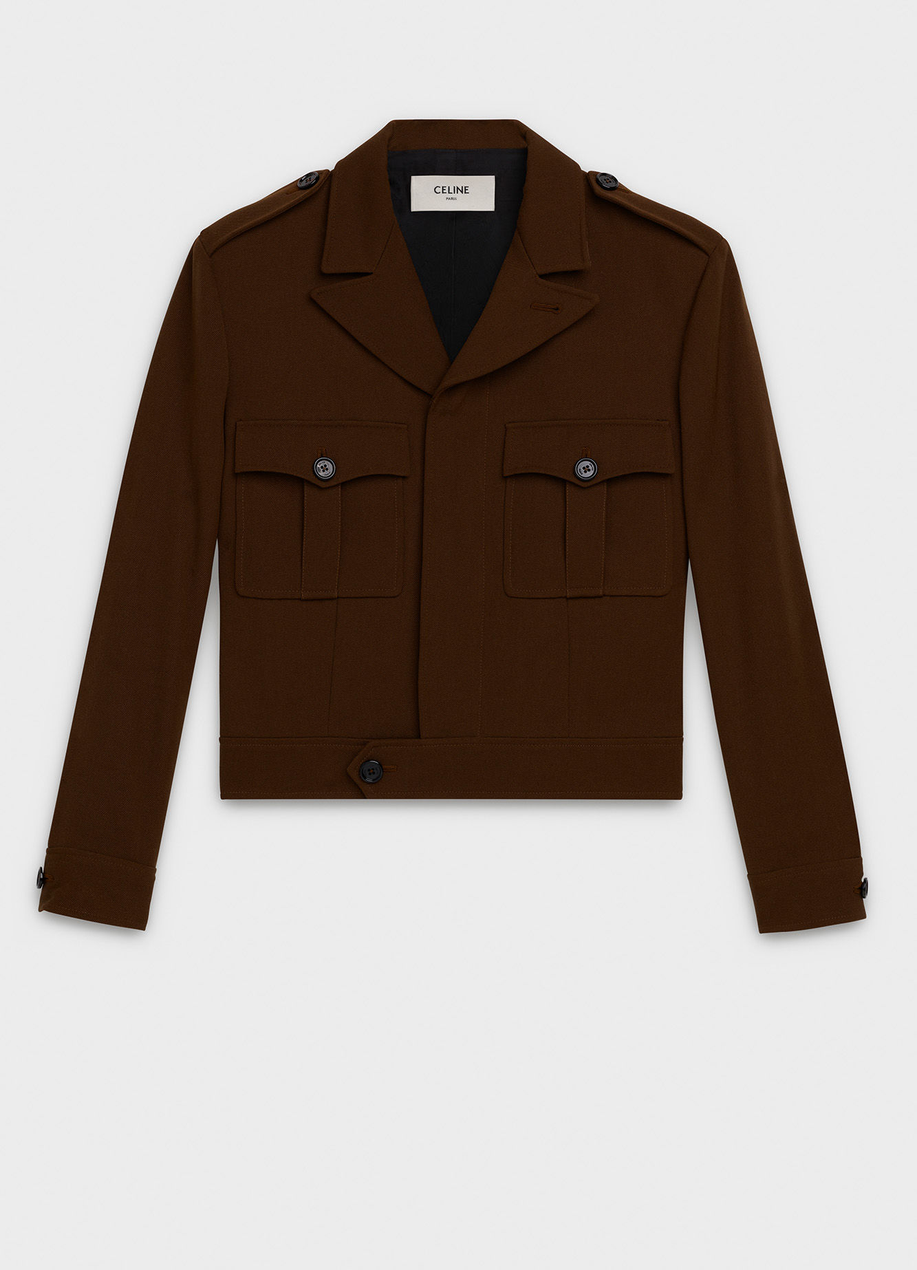 AVIATOR JACKET IN WOOL AND POLYESTER GABARDINE