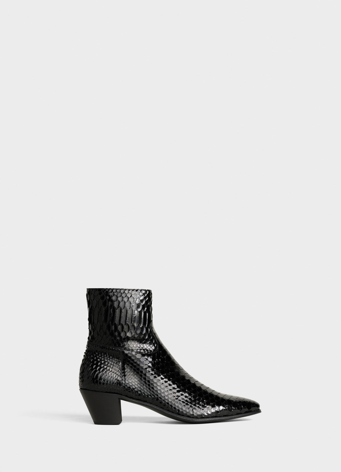 CELINE BOOT JACNO IN LACQUERED PYTHON