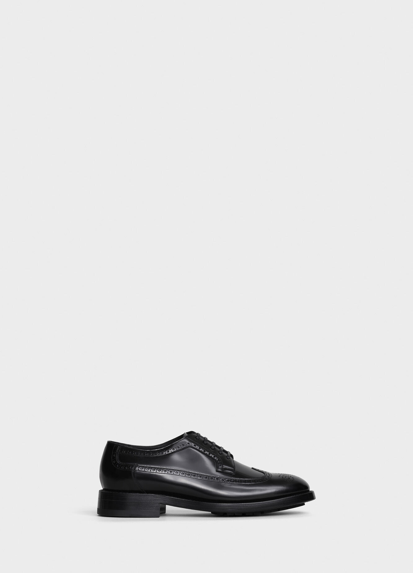 CELINE ACADEMY ARMY DERBY WITH BROGUE DETAILS IN POLISHED CALFSKIN