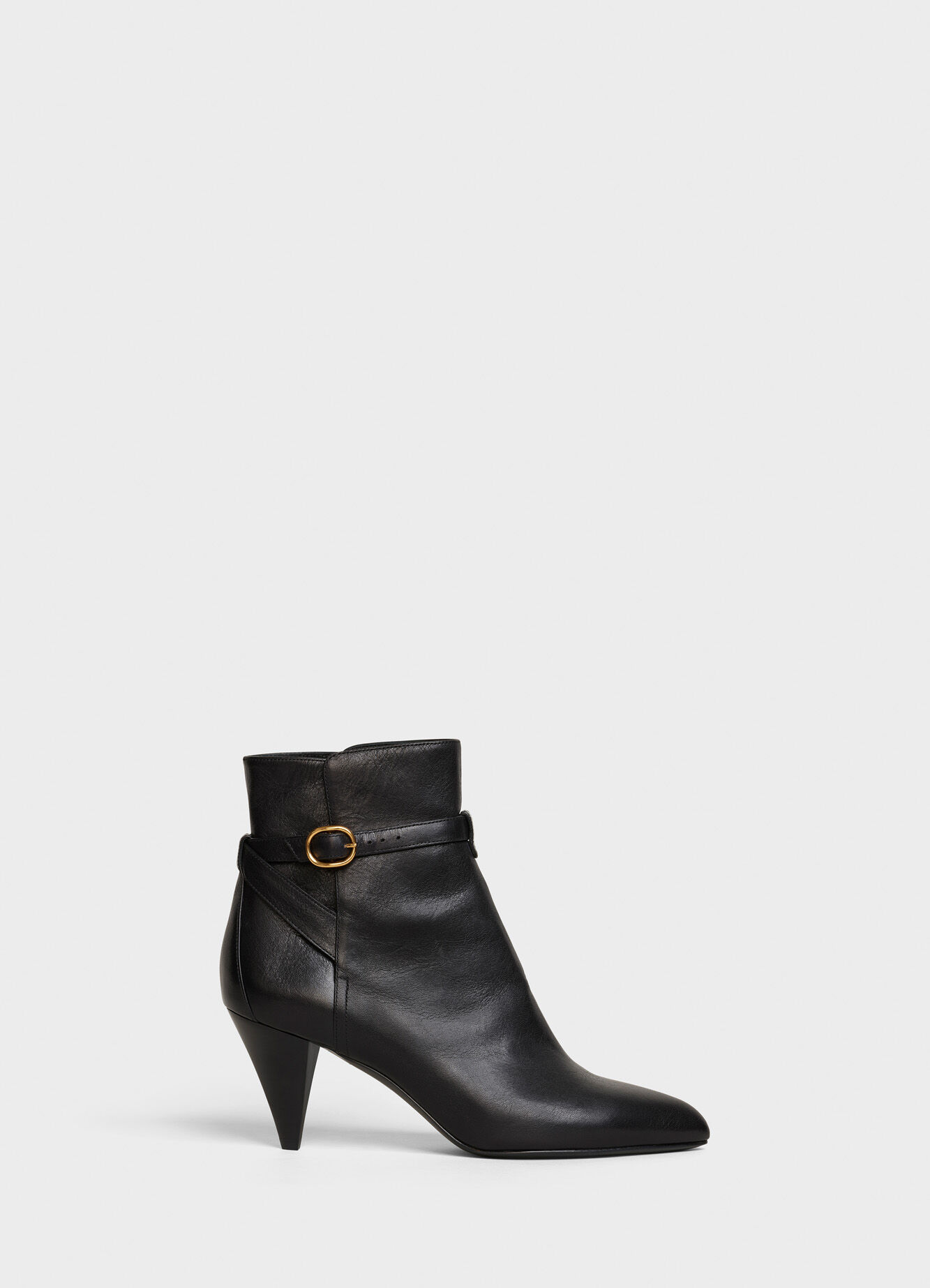 CELINE TRIANGLE HEEL JODHPUR ANKLE BOOT IN CALFSKIN