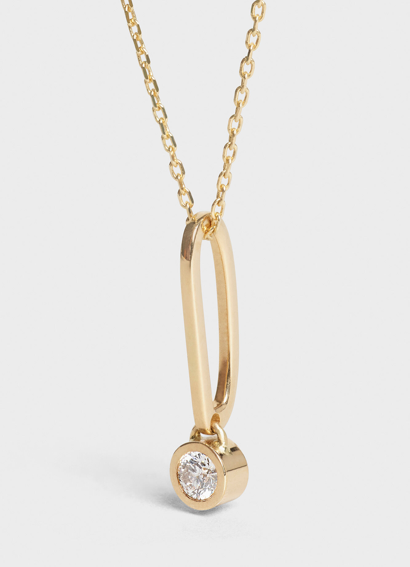 CELINE SENTIMENTAL BRILLIANT NECKLACE IN YELLOW GOLD AND WHITE