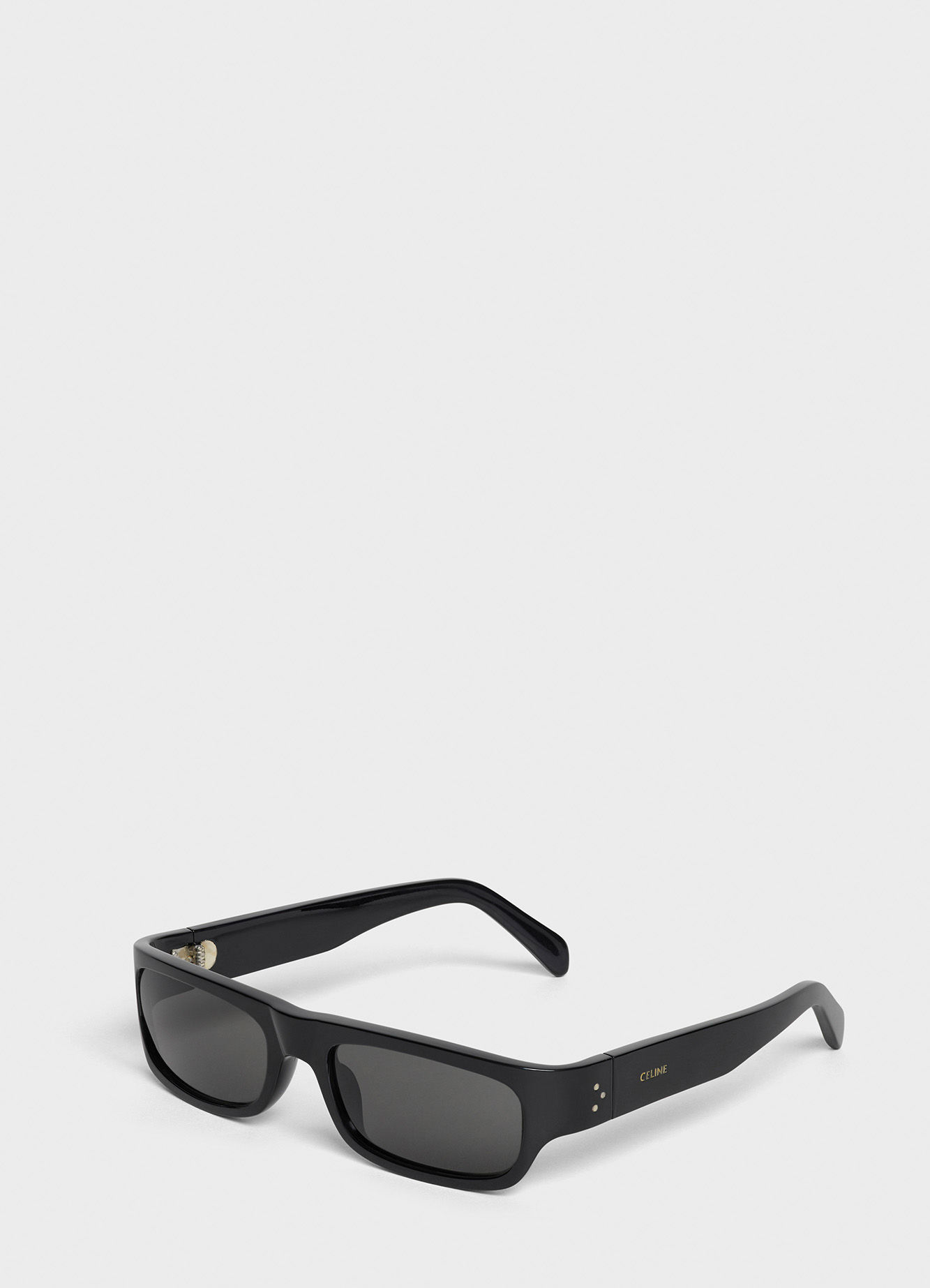 CELINE BLACK FRAME 03 SUNGLASSES IN ACETATE