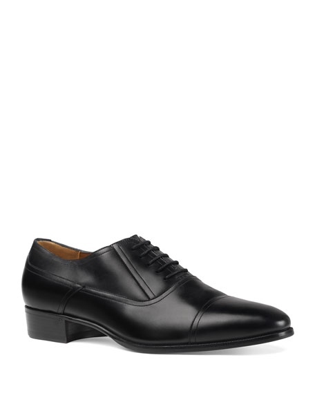 Gucci Men's Leather Lace-Up Shoes