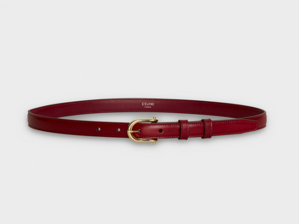 CELINE ELEGANT BELT WITH ROUNDED BUCKLE IN SMOOTH CALFSKIN