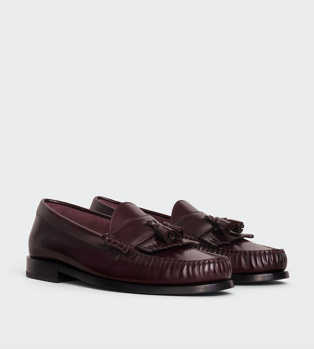 CELINE LUCO LOAFER WITH TASSELS IN POLISHED CALFSKIN
