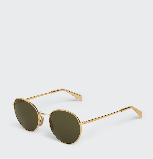 CELINE METAL FRAME 06 SUNGLASSES IN METAL WITH MINERAL GLASS LENSES