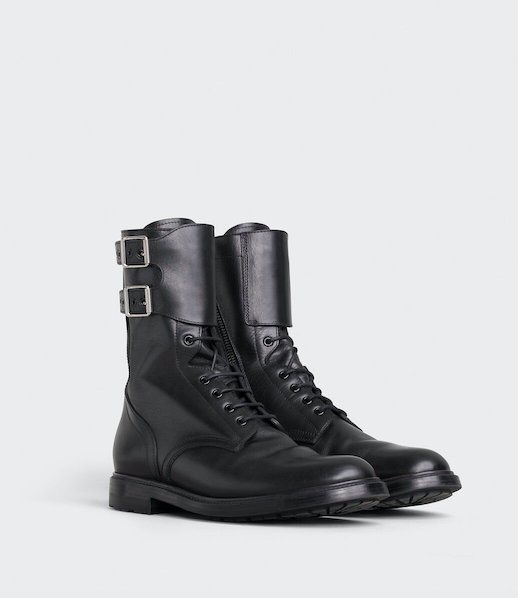 CELINE RANGER BOOT LACE-UP BOOT WITH CUFF IN VEGETAL CALFSKIN