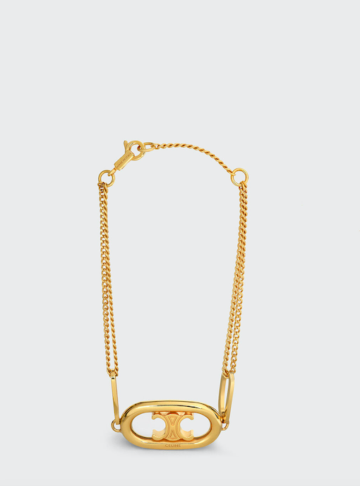 CELINE MAILLONS TRIOMPHE BRACELET IN BRASS WITH GOLD FINISH