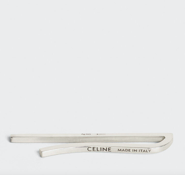 CELINE AIGUISE THIN TIE PIN IN STERLING SILVER