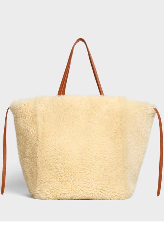 CELINE MEDIUM CABAS PHANTOM IN SHEARLING